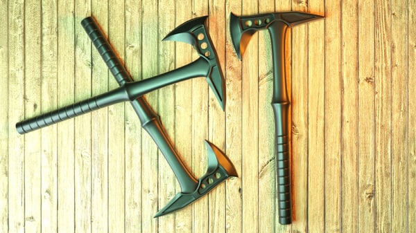 3D airsoft tomahawk model