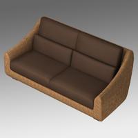 3D asian sofa model