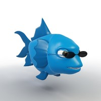 cartoon fish model