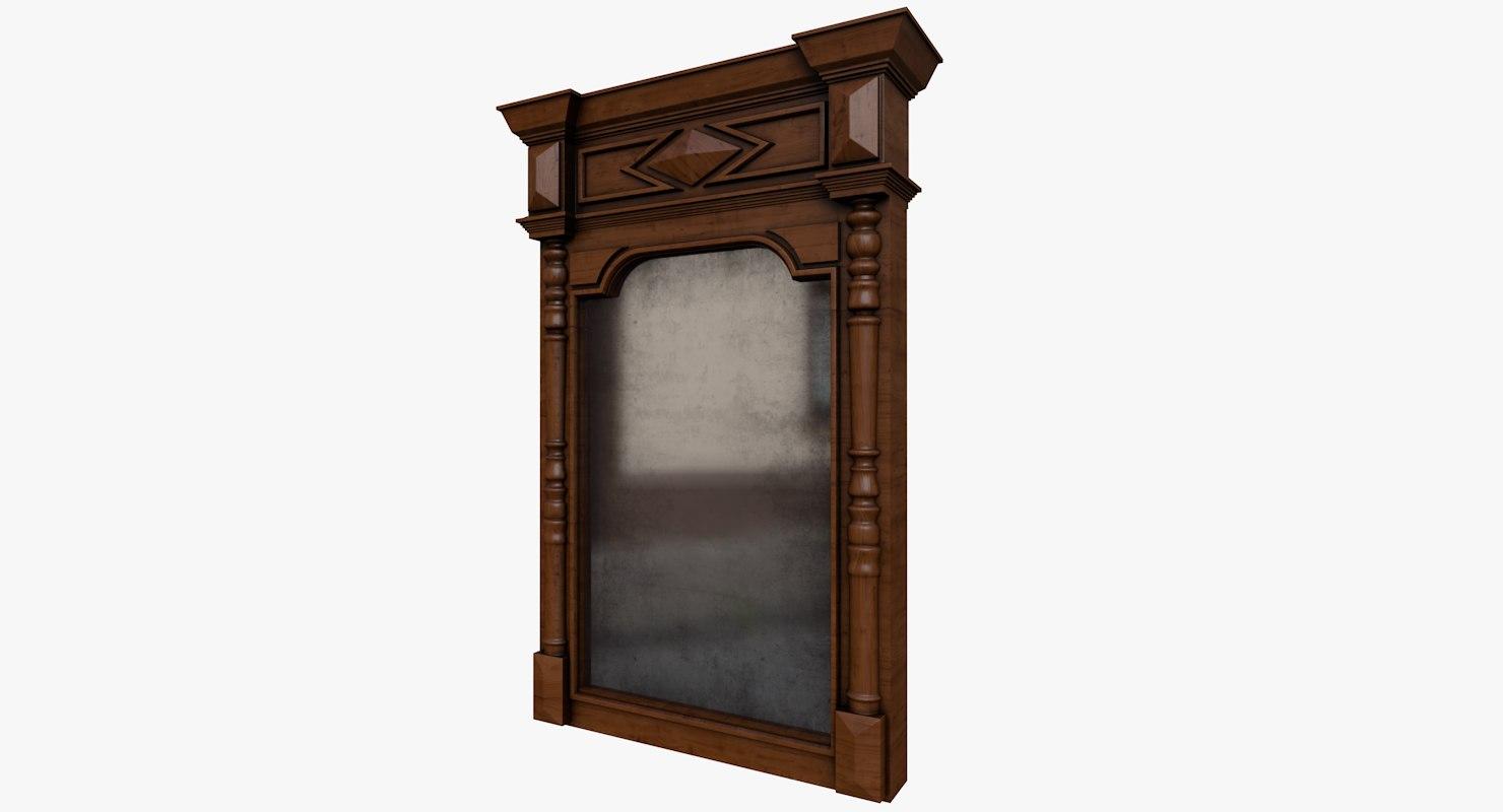 3D model old mirror