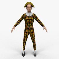 3D harlequin