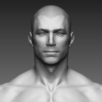 zbrush realistic man human 3D model