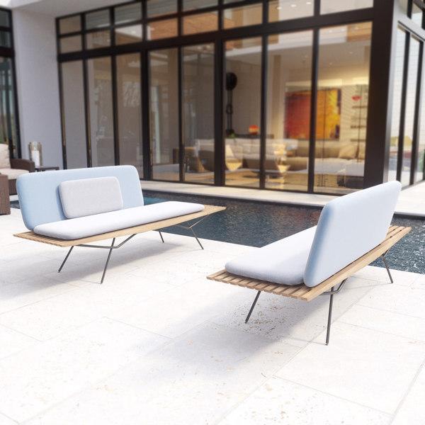 3D manutti san sofa model
