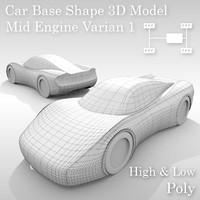 car base variants 3D model