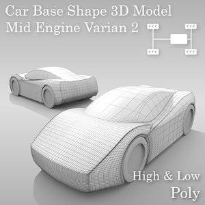 car base variants 3D model