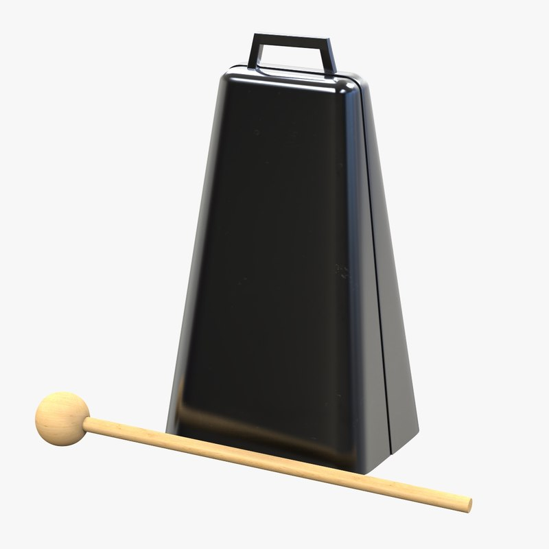 cowbell percussion instrument 3D model