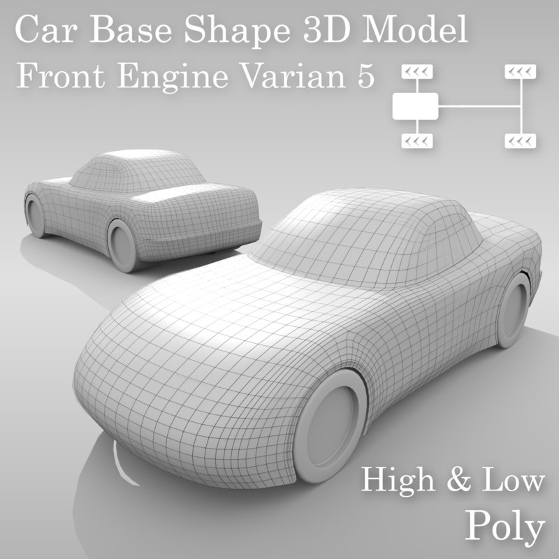 3D car base variants
