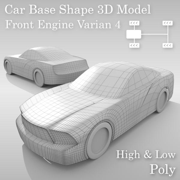 3D car base variants