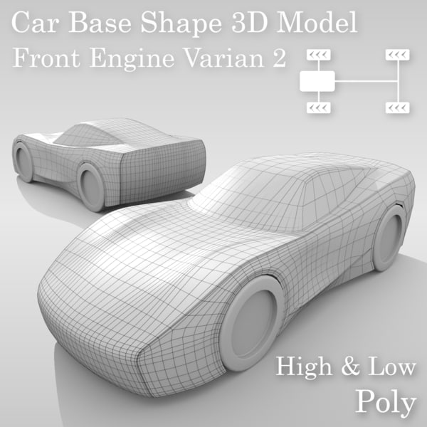 car base variants 3D