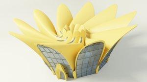 savyelus modern building 3D model