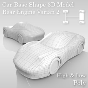 3D model car base variants
