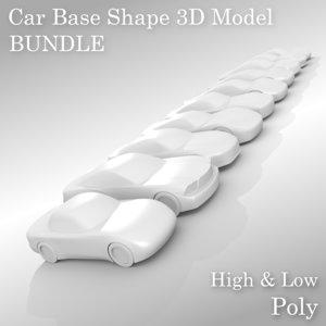 sports car base 3D model