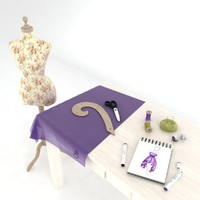 sewing table set model