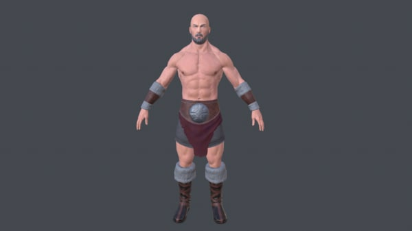 barbarian character games 3D model