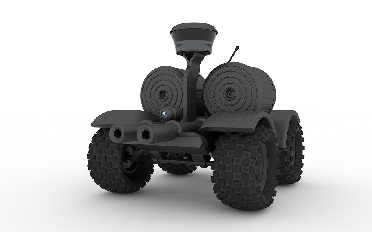 rc gun robot 3D model