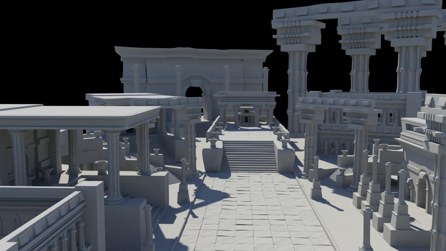 ancient roman greek architecture model