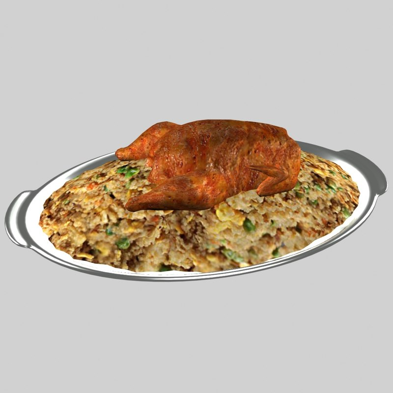 roasted chicken rice 3D model