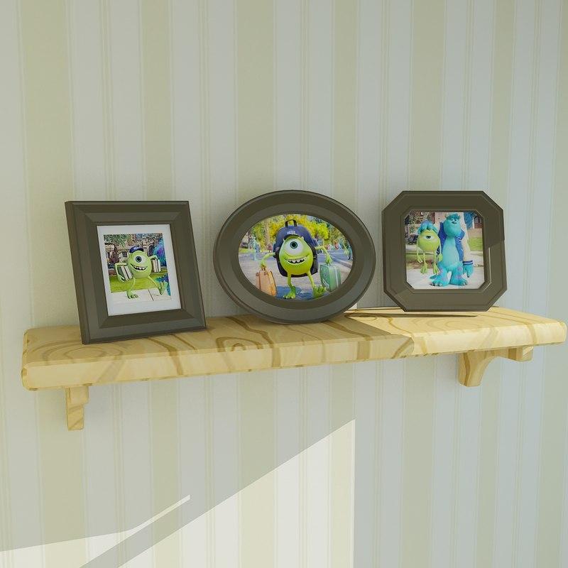 cartoon picture frame 3D model