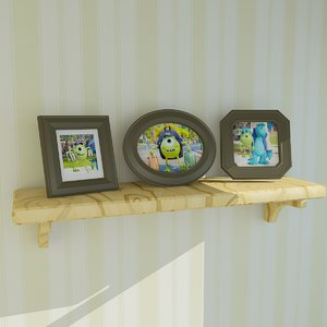 cartoon picture frame 3D model