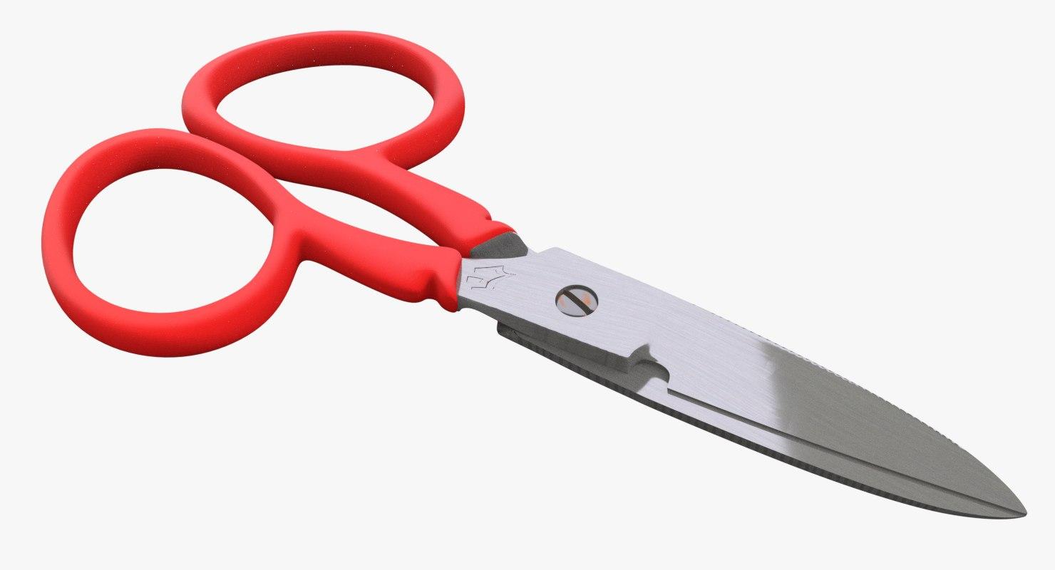 3D scissors pbr