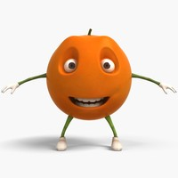 orange cartoon 3D model