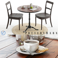 3D pottery barn rae table model