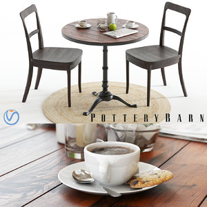 3D pottery barn rae table model