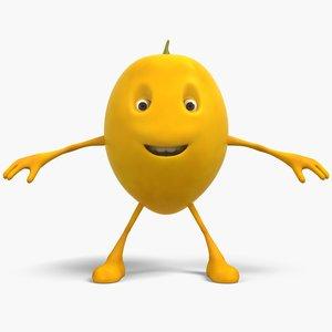 3D lemon cartoon model