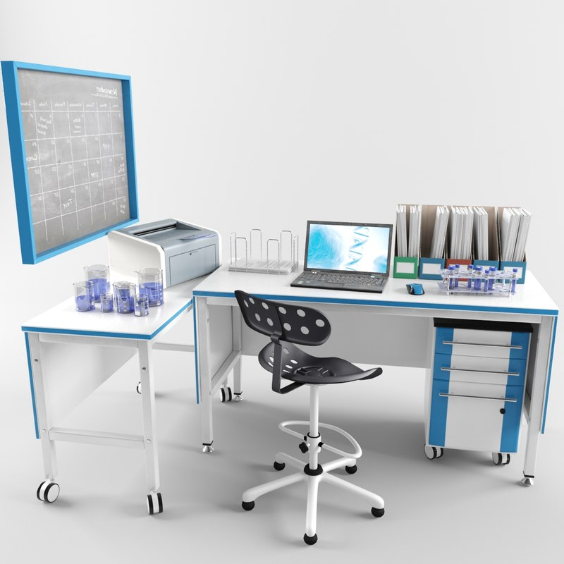 3D laboratory lab workplace
