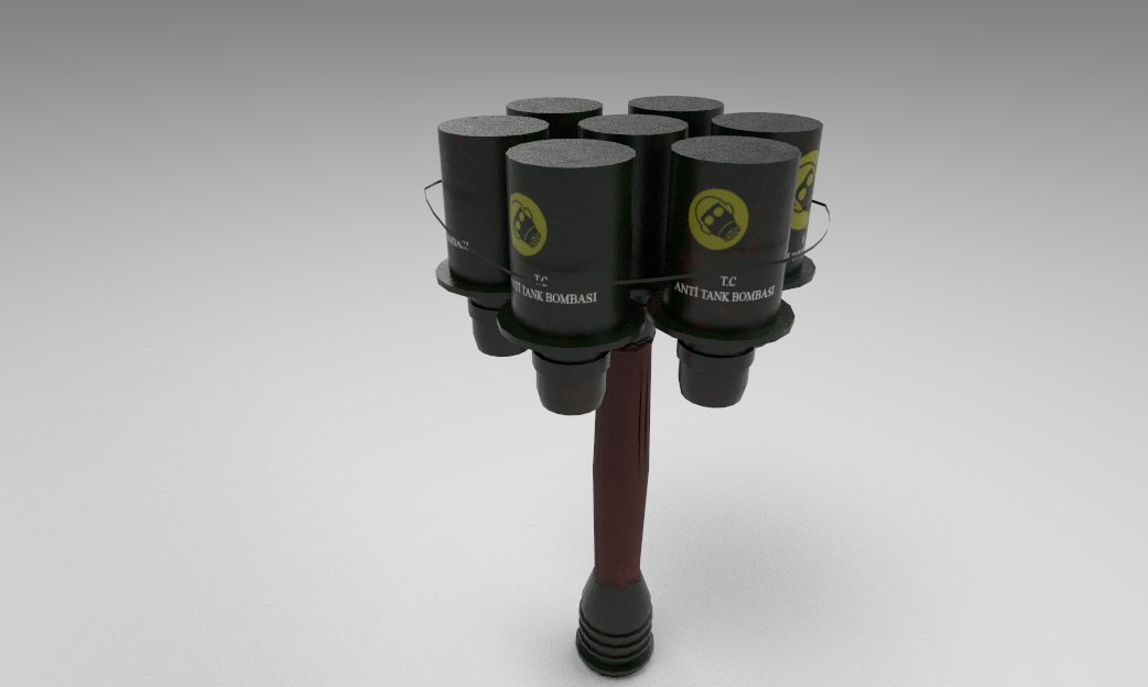 3D model grenade game
