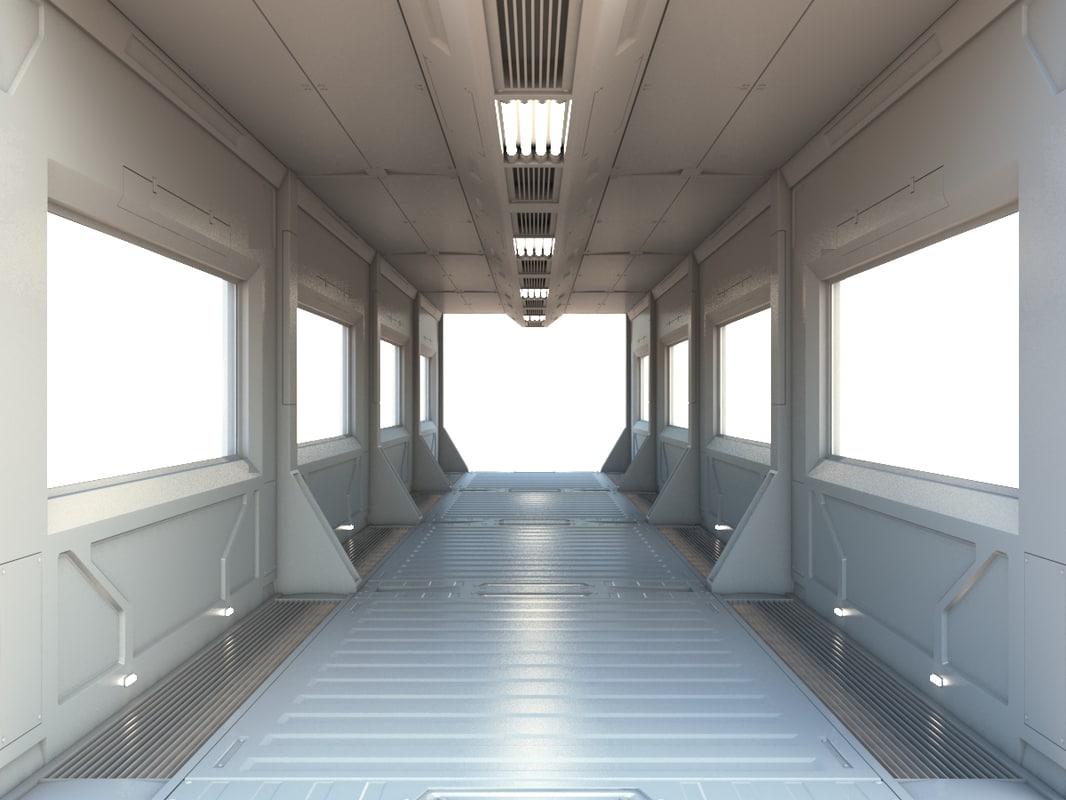sci-fi module tunnel 3D model