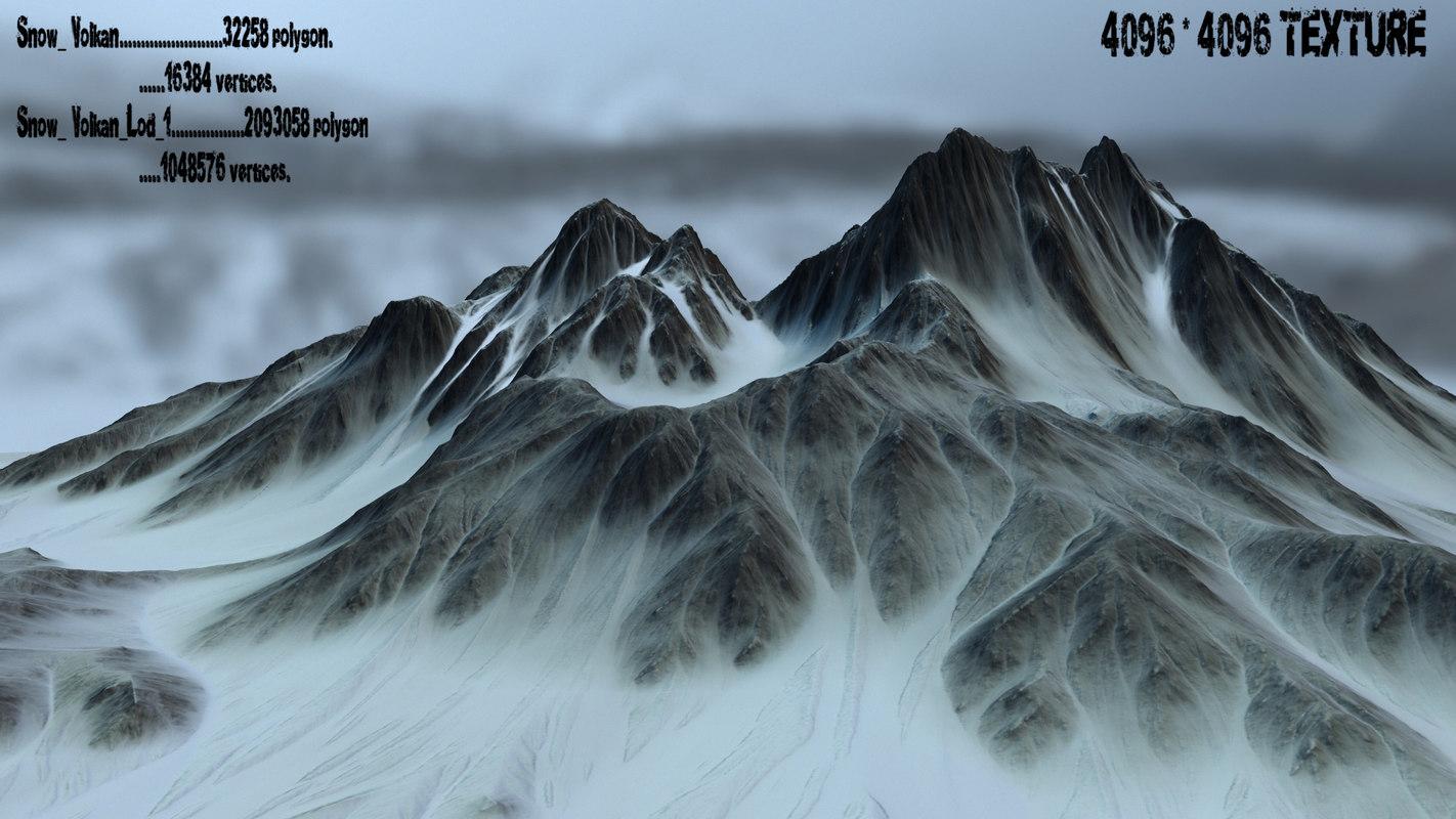 3D snow volcano model