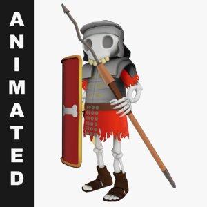 skeleton animations 3D model