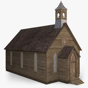 3D model wild west church