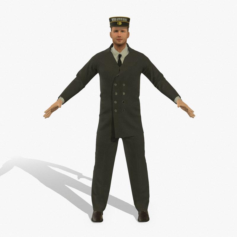 railroad porter rigged pbr 3D model