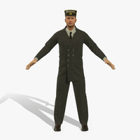 railroad porter rigged pbr 3D model