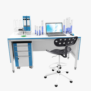 laboratory workplace 3D model
