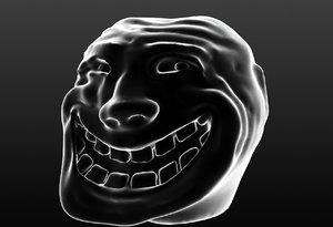 3D trollface troll model
