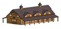 equestrian facility 3D