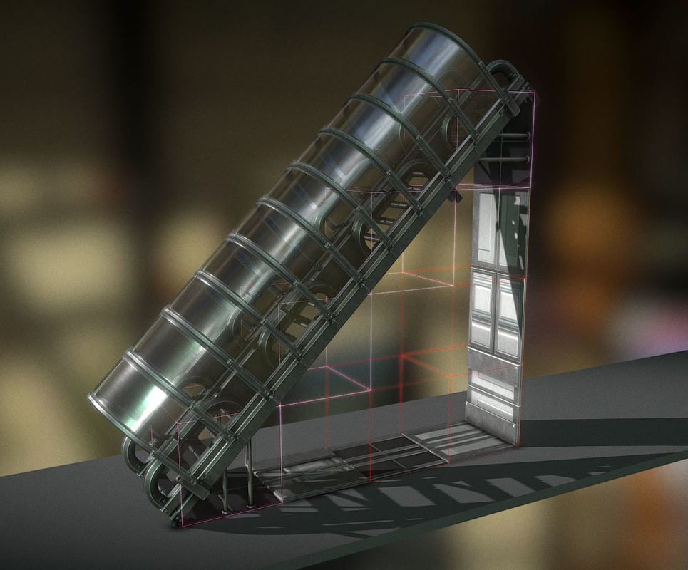 3D set stairs 43 components model