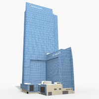 3D jw marriott los angeles model