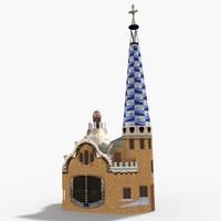 3D park guell barcelona