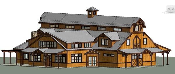 equestrian facility living quarters model