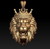 lion crown 3D