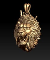 lion necklace model