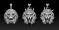 3D model lion pack