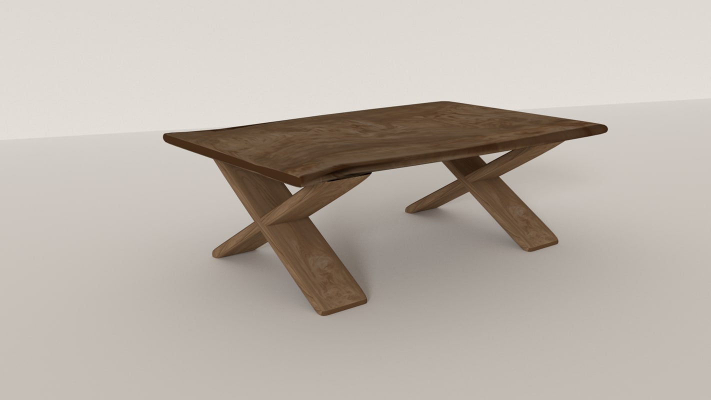 3D outdoor dining table