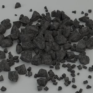rocks pile 3D