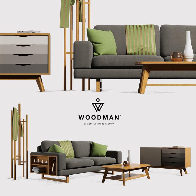 woodman sofa 3D model