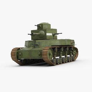3D t24 russian medium tank model